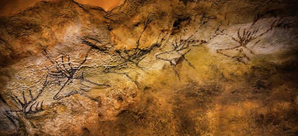 World Heritage Site Painting - Bordeaux, France. Lascaux Cave Painting by Ken Welsh