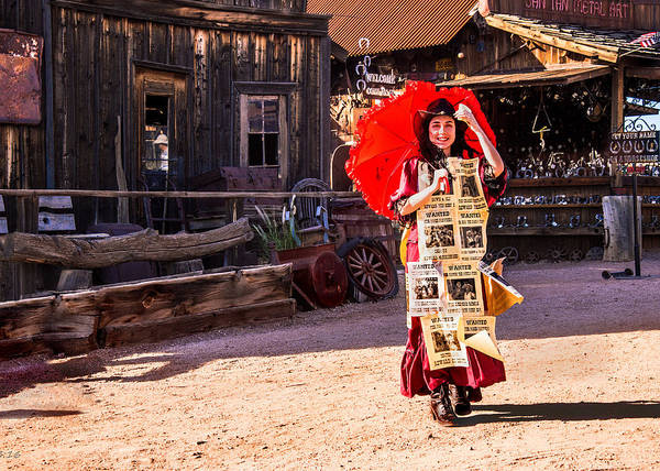 Photograph - Bordello Girl Goldfield Arizona by Bob and Nadine Johnston