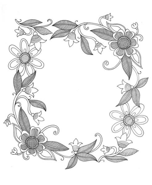 Colours Drawing - Border 6 by MGL Meiklejohn Graphics Licensing
