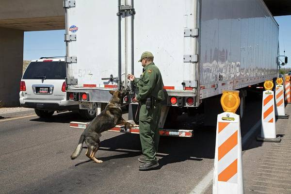 Trailer Photograph - Border Patrol Checkpoint by Jim West