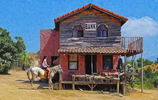 Painting - Border Town Bank Equ320838 by Dean Wittle