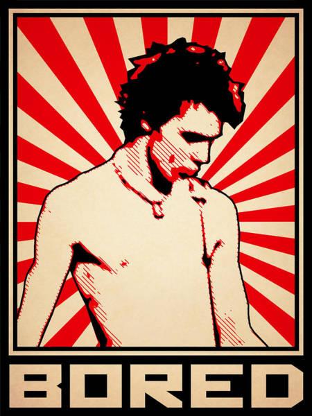Punk Rock Digital Art - Bored by Lance Vaughn