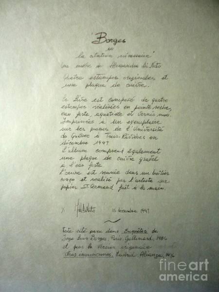 Borges Credits Art Print