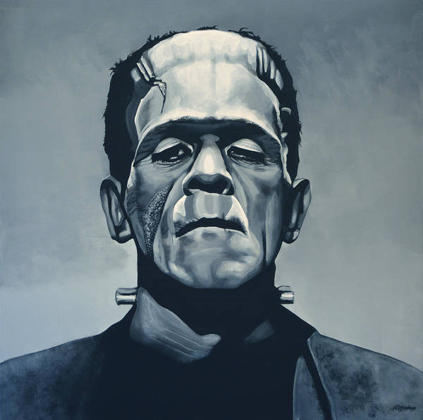 Wall Art - Painting - Boris Karloff As Frankenstein  by Paul Meijering