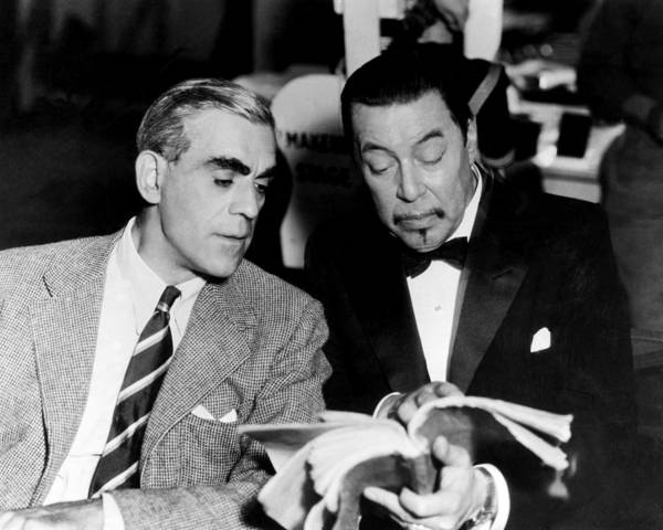 Charlie Photograph - Boris Karloff In Charlie Chan At The Opera  by Silver Screen