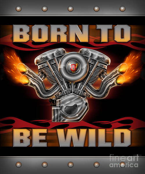 Painting - Born To Be Wild  by JQ Licensing
