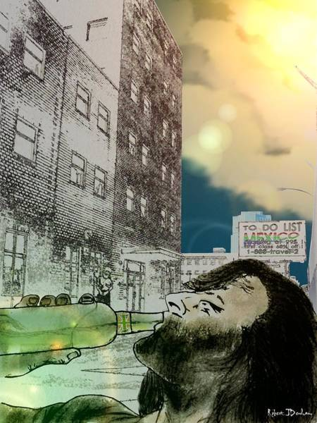 Drunk Mixed Media - Born Yesterday by Robert Denham