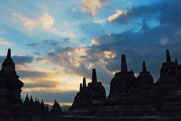 Central Asia Photograph - Borobudur At Dusk, Unesco World by Keren Su