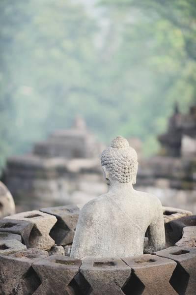 Statue Photograph - Borobudur Buddha Statue by Carlina Teteris