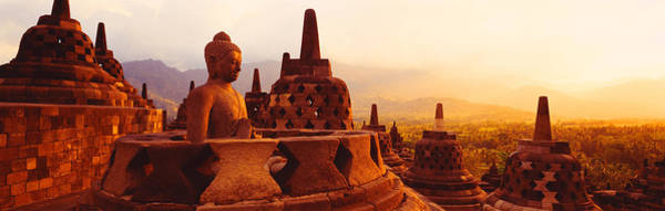 Boddhisatva Wall Art - Photograph - Borobudur Buddhist Temple Java Indonesia by Panoramic Images