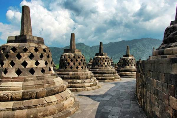 Indonesian Culture Photograph - Borobudur Temple by Paul Biris