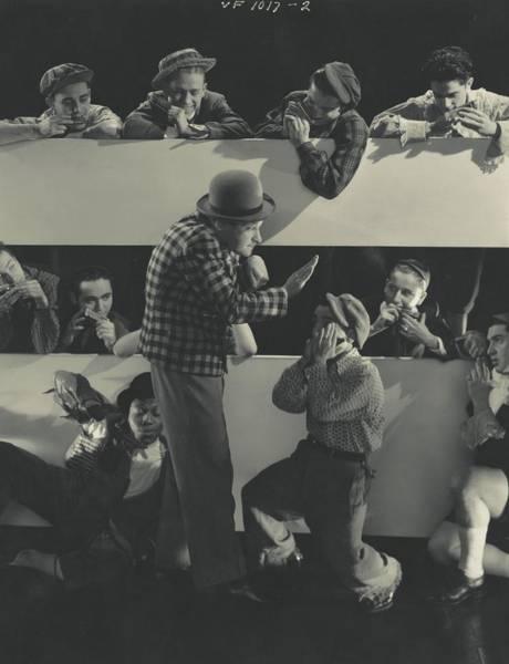 Eastern European Photograph - Borrah Minevitch Directing His Musical Group by Edward Steichen
