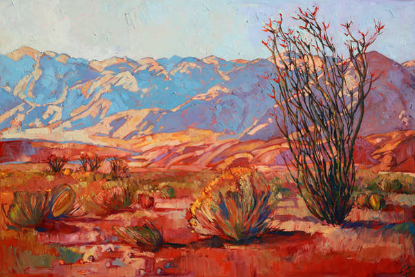 Wall Art - Painting - Ocotillo Gold by Erin Hanson