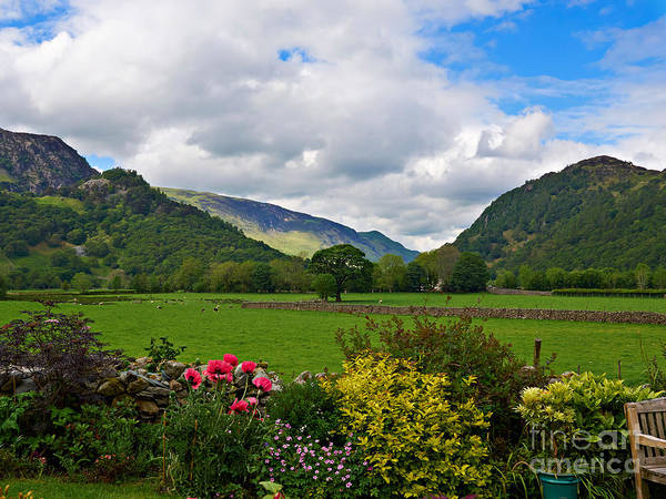 Wall Art - Photograph - Borrowdale From A Pretty Garden In Rosthwaite by Louise Heusinkveld