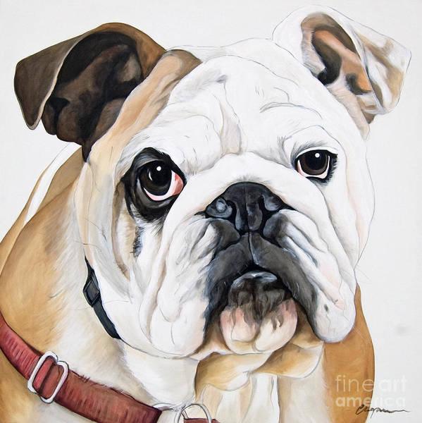 English Bulldog Painting - Bosco by Model Dogz