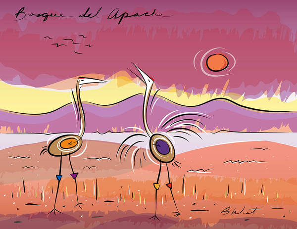 Wildlife Refuge Digital Art - Bosque Del Apache by William West