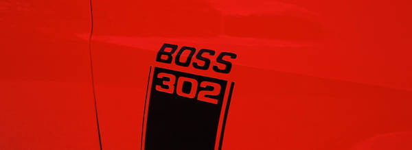 302 Wall Art - Photograph - Boss 302 Emblem On A Car by Panoramic Images