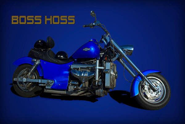 Photograph - Boss Hoss Chevy V8 Motorcycle by Tim McCullough