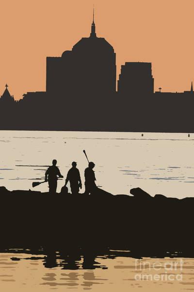 Posterize Photograph - Boston Across The Bay 1 by David Leiman