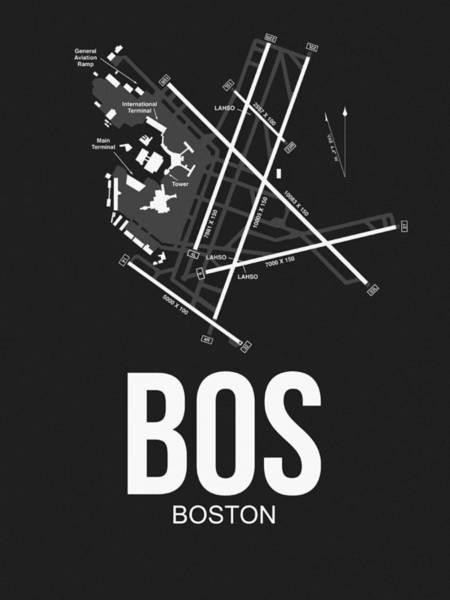 Capital Wall Art - Digital Art - Boston Airport Poster 1 by Naxart Studio