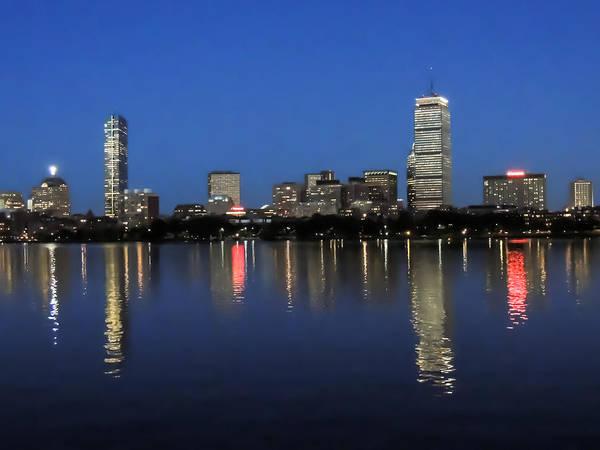 Photograph - Boston Back Bay At Night by Robert Mitchell
