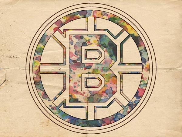 Painting - Boston Bruins Poster Art by Florian Rodarte