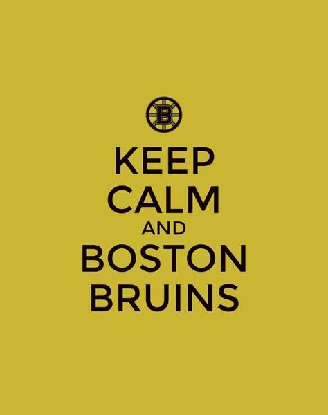 Painting - Boston Bruins Poster Typography by Florian Rodarte