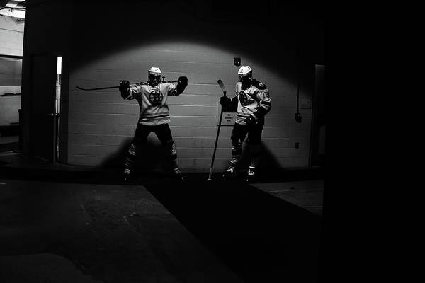 Ice Hockey Photograph - Boston Bruins V New York Rangers - Game by Bruce Bennett