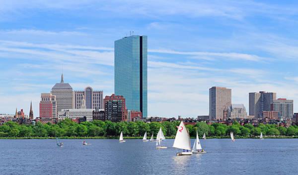 Photograph - Boston Charles River Panorama  by Songquan Deng