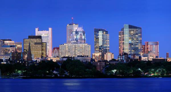 Photograph - Boston City At Night by Songquan Deng