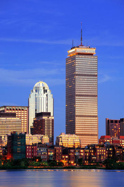 Photograph - Boston City Urban Skyscrapers by Songquan Deng