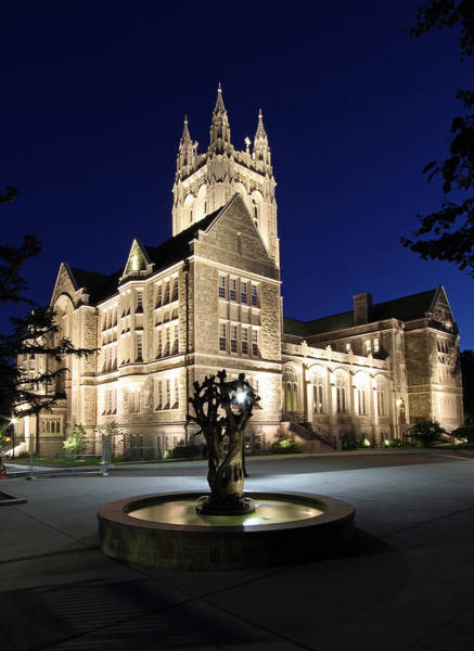 House Beautiful Photograph - Boston College Gasson Hall by Juergen Roth