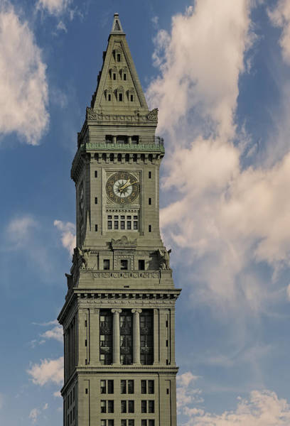 Greek Revival Architecture Photograph - Boston Custom House Clock Tower by Susan Candelario