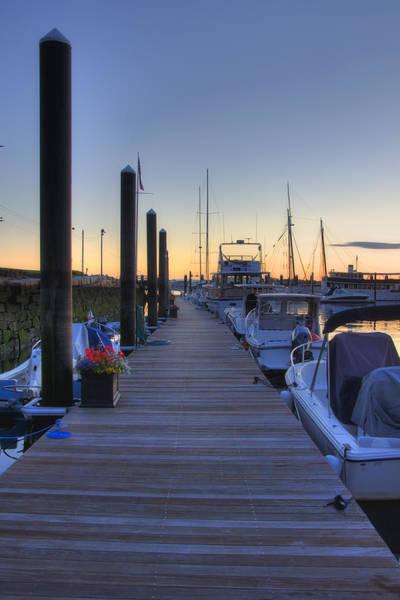 Photograph - Boston Dock Sunrise by Joann Vitali