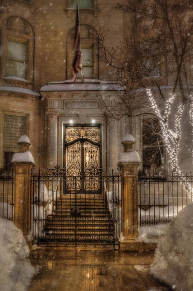 Photograph - Boston Doorway In Snow - Back Bay by Joann Vitali