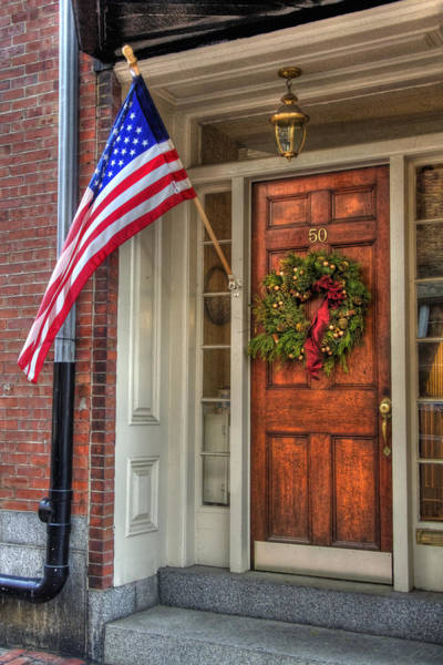 Photograph - Boston Doorways 1  by Joann Vitali