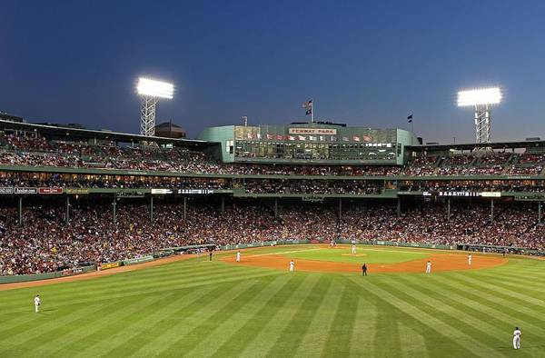 Photograph - Boston Fenway Park And Red Sox Nation by Juergen Roth