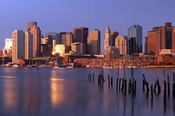 Photograph - Boston Financial District And Harbor by Juergen Roth