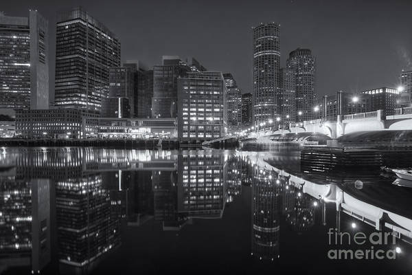 Photograph - Boston Fort Point Channel Morning Twilight II by Clarence Holmes