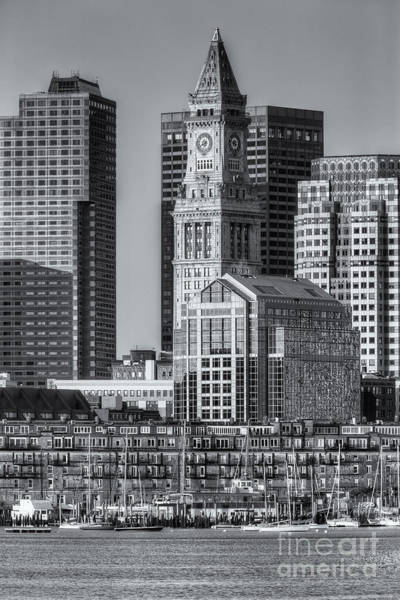Photograph - Boston Harbor And Skyline Iv by Clarence Holmes