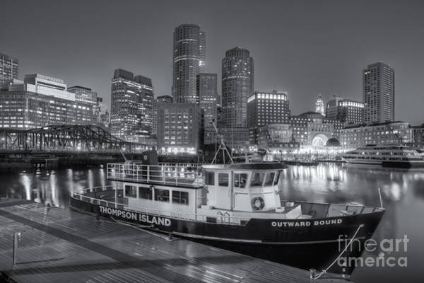 Photograph - Boston Harbor And Skyline Morning Twilight II by Clarence Holmes