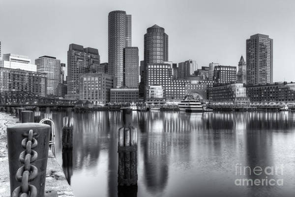 Photograph - Boston Harbor And Skyline Morning Twilight Iv by Clarence Holmes