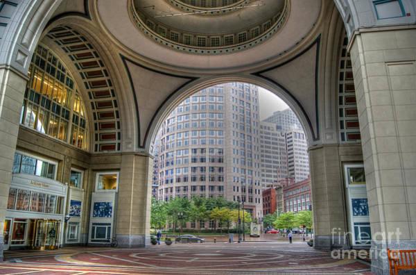 Photograph - Boston Harbor Hotel Archway by David Birchall