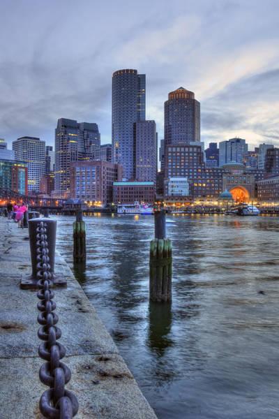 Photograph - Boston Harbor Skyline Sunset by Joann Vitali