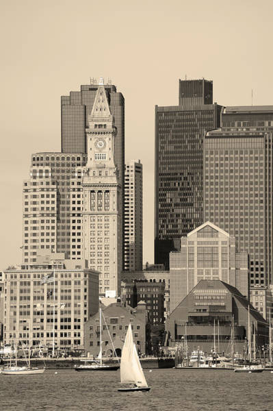 Photograph - Boston In Black And White by Songquan Deng