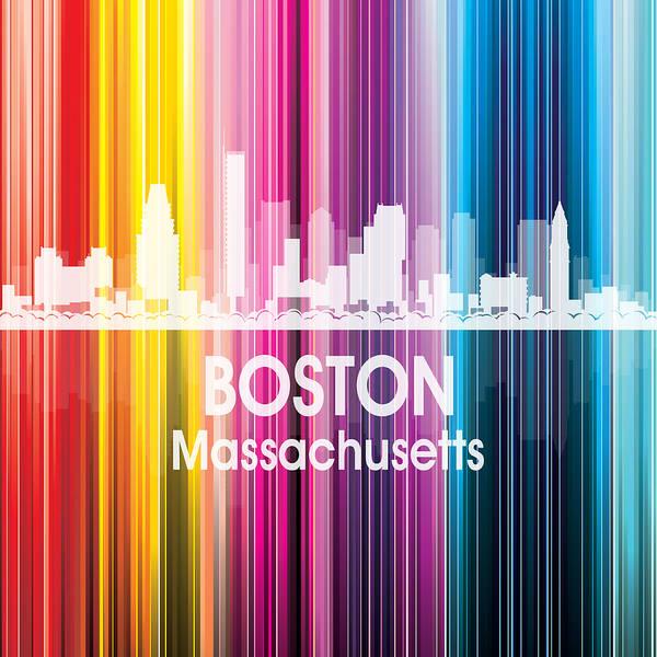 Metropolis Mixed Media - Boston Ma 2 Squared by Angelina Tamez