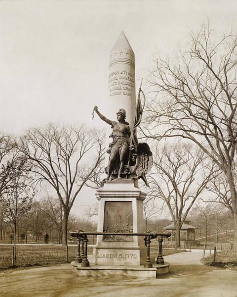 Photograph - Boston Massacre Monument - Boston Common by Joann Vitali