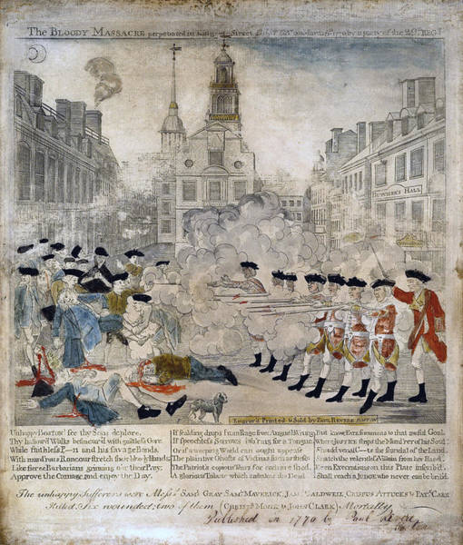 Painting - Boston Massacre by Celestial Images