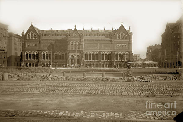 Photograph - Boston Museum Of Fine Art On Copley Square Massachusetts Circa 1900 by California Views Archives Mr Pat Hathaway Archives