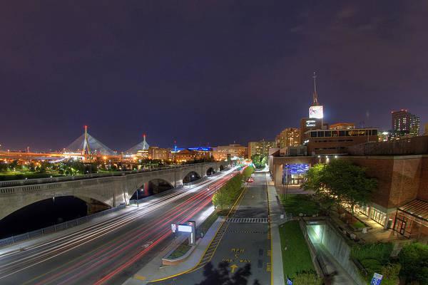 Photograph - Boston Night Cityscape by Joann Vitali